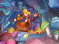 Hive in Brer Bear's Nose in Splash Mountain