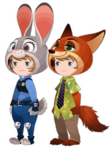 Judy Hopps & Nick Wilde Costume Kingdom Hearts χ
