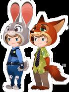 Judy Hopps & Nick Wilde Costume Kingdom Hearts χ