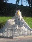 Olaf statue frozen summer fun