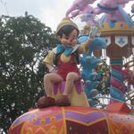 Pinocchio in Festival of Fantasy parade