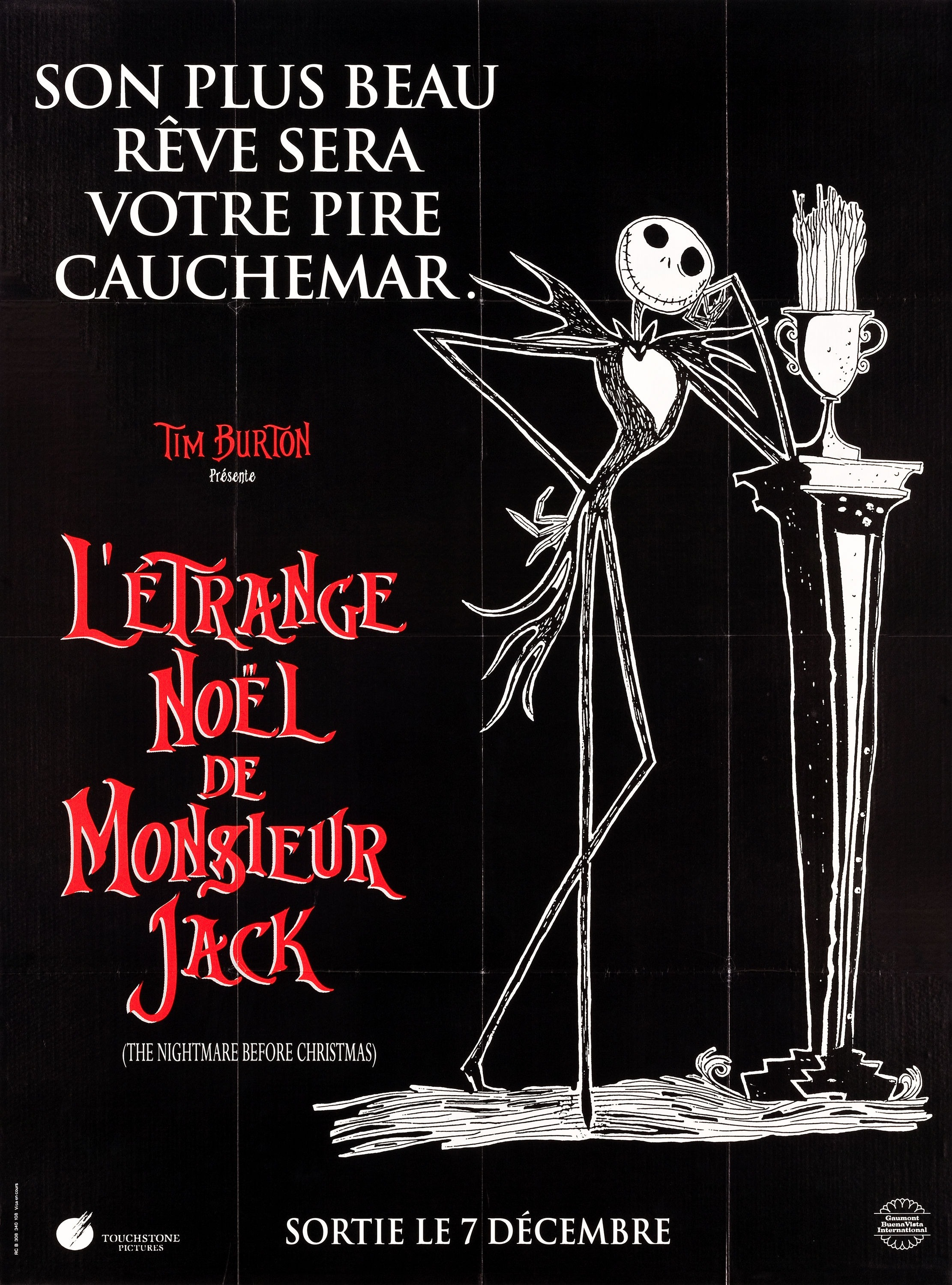 Image - The Nightmare Before Christmas French Poster 01.jpg | Disney ...