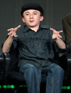 Atticus Shaffer speaks at Winter TCA Tour