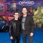 Chris Pratt & Tom Holland Onward premiere