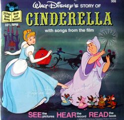 Cinderella Disney Read-Along Record