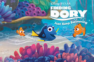 Finding Dory Just Keep Swimming Title Screen