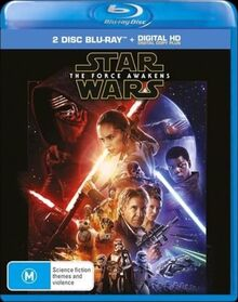 Star Wars The Force Awakens 2016 AUS 2 Disc Blu Ray + Digital HD