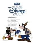 Treasures from The Disney Vault September 2017 Schedule