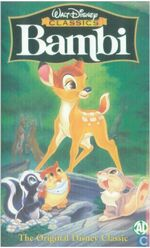 Bambi 1999 Dutch VHS English Version