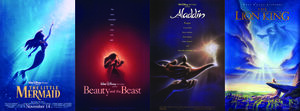 Disney Renassanse First Film's Collage
