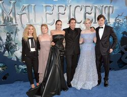 Maleficent cast Hollywood premiere