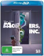 Monsters Inc 2014 AUS Blu Ray 3D