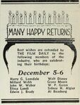 WD birthday greeting 12-6-1931 FD
