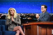 Jane Krakowski late show Stephen Colbert