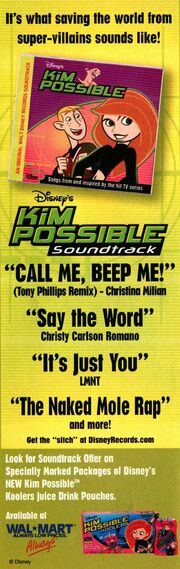 Kim Possible Soundtrack print ad NickMag September 2003