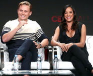 Billy Magnussen & Dania Ramirez at Summer 2018 TCA Tour