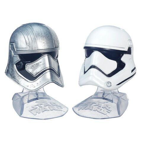 File:Captain Phasma and First Order Stormtrooper Helmets Black Series.jpg