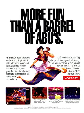 File:Disney's Aladdin - SNES Video Game - 1993 Promotional Advertisement.jpg