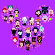 Disney villains painting at Disneyland