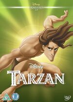 Tarzan UK DVD 2014 Limited Edition slip cover