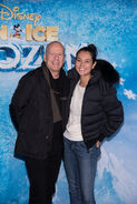 Bruce Willis and Emma Heming at Disney on Ice premeire