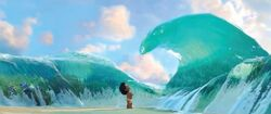 Moana meets the sea