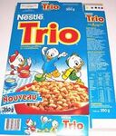 Nestle Trio Spain Cereal Box with Huey Dewey and Louie