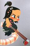 Vanellope mit einer Gitarre Konzept