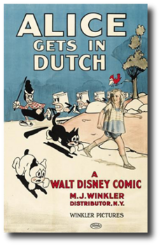 Alice gets in dutch poster
