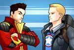 Anthony Stark and Steven Rogers Marvel Avengers Academy