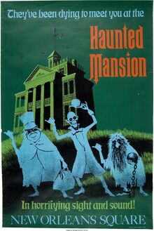 Haunted Mansion poster Disneyland