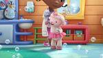 Lambie singing and dancing