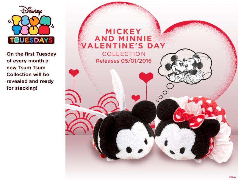 Mickey And Minnie Valentineu0027s Tsum Tsum Tuesday