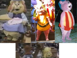 Gummi Bears Costumes Through the Years