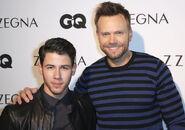Joel McHale Nick Jonas GQ