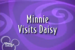 Minnie Visits Daisy
