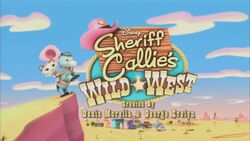 Sheriff Callie's Wild West intertitle