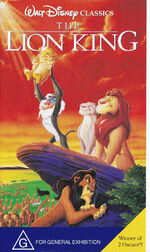 The Lion King 1995 AUS VHS