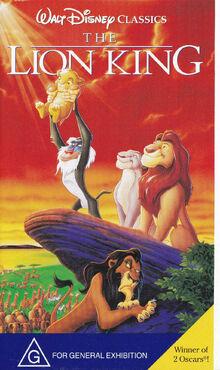 The Lion King 1995 AUS VHS