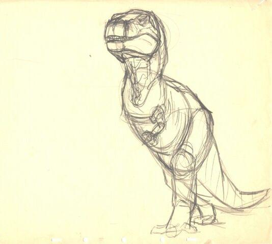 File:Drawing of T-rex 1.jpg