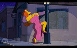 Simpsons Jessica Rabbit Who Framed Roger Rabbit spoof