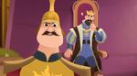 Der Anführer der königlichen Wachen mit König Frederick