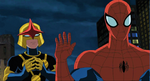 Nova and Spider Man USM 6