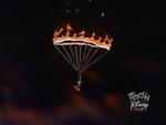 Parachute burn