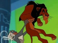 Rafiki and Scar