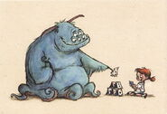 Sulley and Boo Concept Art 6