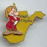 Grumpy West Virginia pin
