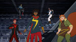 Marvel Rising Secret Warriors - Inferno, America Chavez, Ms. Marvel, Patriot, Quake and Squirrel Girl