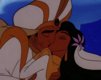 Aladdin-Jasmin beso 3