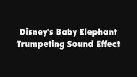 Disney's Baby Elephant Trumpeting SFX